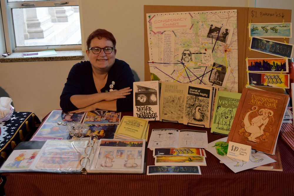 Cori Redford  at  Denver Zine Fest 2018 .