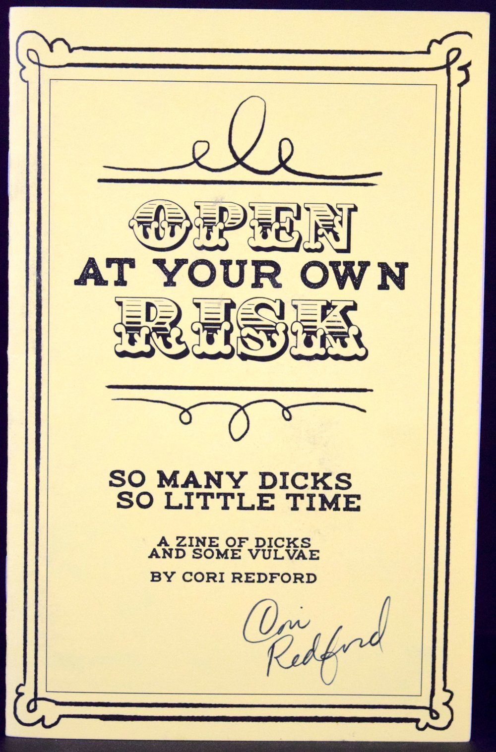 Open At Your Own Risk  by  Cori Redford .