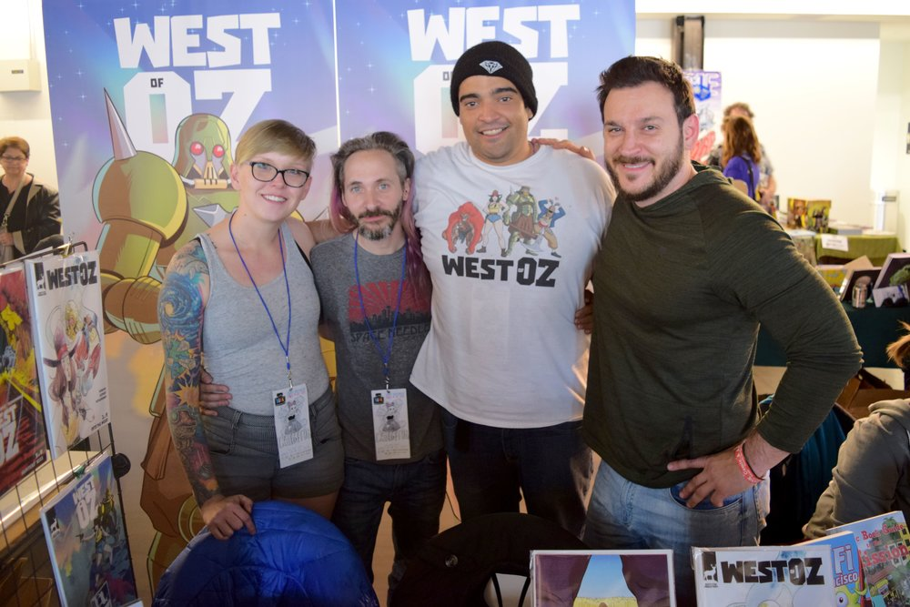 The West of Oz crew! DANIELLE HINES, SEAN BENNER, JEREMY TAVERAS, and Nick Winand at DINK 2018.