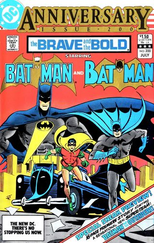 Brave and the Bold (1955) #200, cover drawn by Jim Aparo and colored by Anthony Tollin.