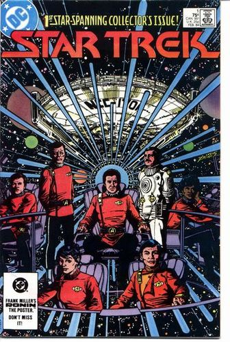 Star Trek (1984) #1, cover drawn by George Perez and colored by Anthony Tollin.
