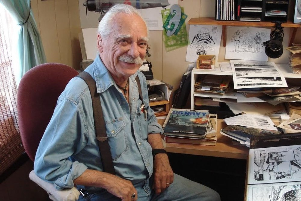 Sam Glanzman in his studio, 2010.