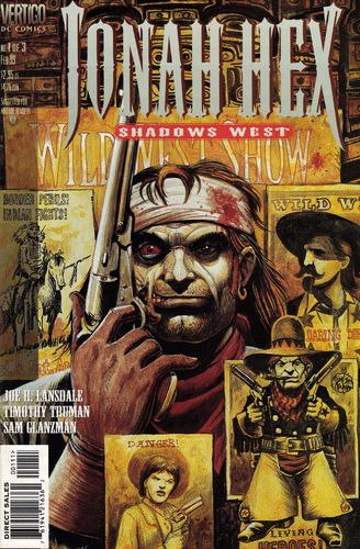 Jonah Hex Shadows West (1999) #1, cover penciled by Tim Truman & inked by Sam Glanzman.
