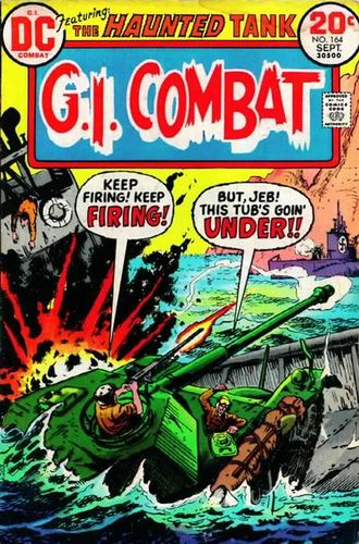 GI Combat (1952) #164, cover by Sam Glanzman.