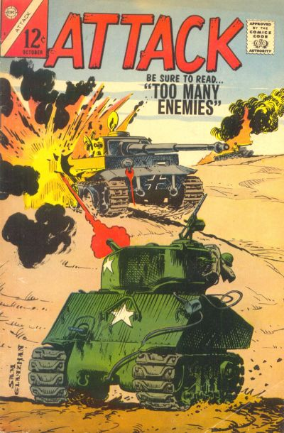 Attack (1966) #3, cover by Sam Glanzman.