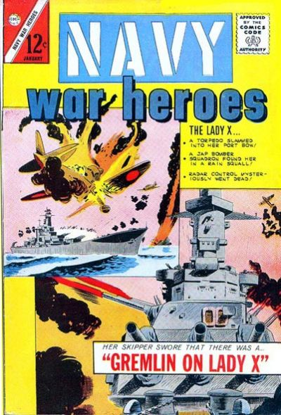 Navy War Heroes (1964) #1, cover by Sam Glanzman.