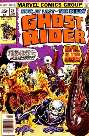 Ghost Rider (1973) #28, cover by Ernie Chan.