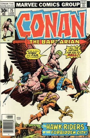 Conan the Barbarian (1970) #75, cover by Ernie Chan.