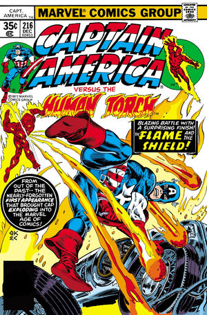 Captain America (1968) #216, cover by Gil Kane and Ernie Chan.