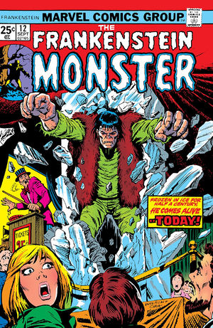 Frankenstein (1973) #12, cover by Ron Wilson and Ernie Chan.