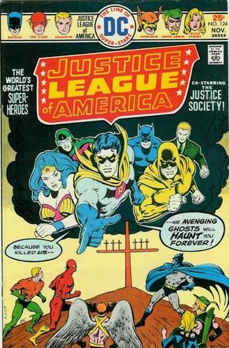 Justice League of America (1960) #124, cover by Ernie Chan.