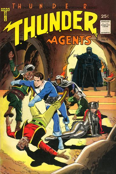 T.H.U.N.D.E.R. Agents (1965) #4, featuring stories written by Steve Skeates.