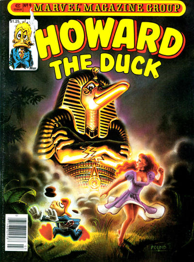 Howard the Duck (1979) #9, featuring a story written by Steve Skeates.