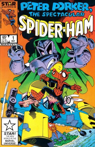 Peter Porker, The Spectacular Spider-Ham (1985) #1, written by Steve Skeates.