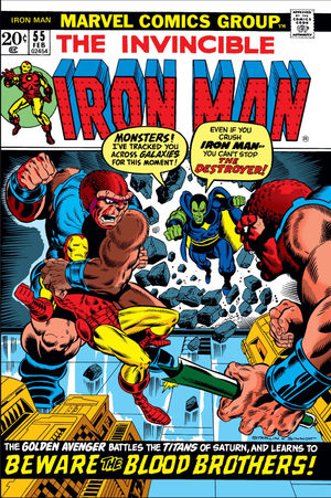 Iron Man (1968) #55, written by Mike Friedrich & Jim Starlin.