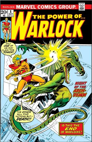 Warlock (1972) #8, written by Mike Friedrich.