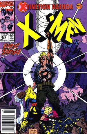 Uncanny X-Men (1981) #270, cover lettered by Tom Orzechowski.