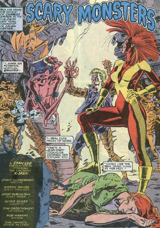 Uncanny X-Men (1981) #262 pg.1, lettered by Tom Orzechowski.