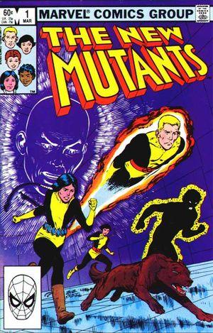New Mutants (1983) #1, logo created by Tom Orzechowski.