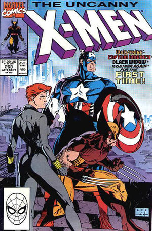 Uncanny X-Men (1981) #268, cover lettered by Tom Orzechowski.