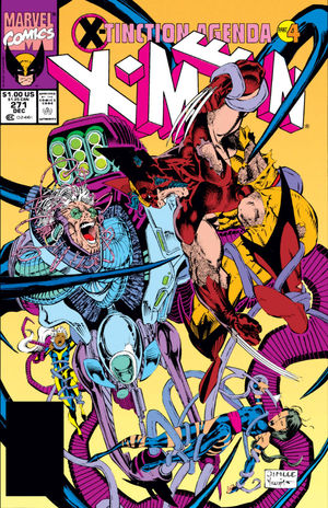 Uncanny X-Men (1981) #271, cover lettered by Tom Orzechowski.