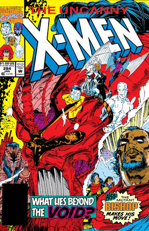 Uncanny X-Men (1981) #284, cover lettered by Tom Orzechowski.