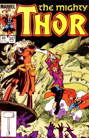 Thor (1966) #347, cover by Walt Simonson.