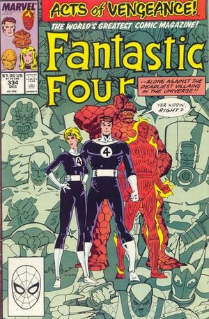 Fantastic Four (1961) #334, cover by Walt Simonson.
