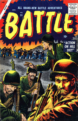 Battle (1951) #55, cover by Gene Colan.
