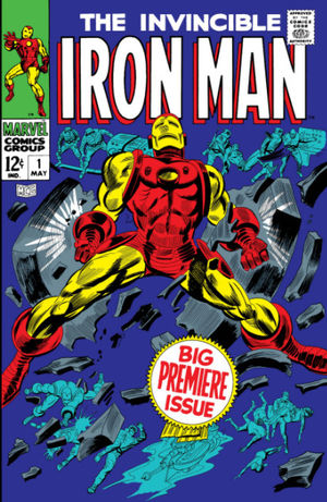 Iron Man (1968) #1, cover penciled by Gene Colan & inked by Mike Esposito.