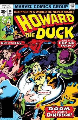Howard the Duck (1976) #10, cover by Gene Colan.
