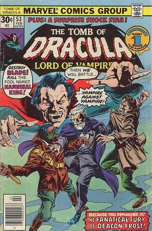 Tomb of Dracula (1972) #53, cover penciled by Gene Colan & inked by Tom Palmer