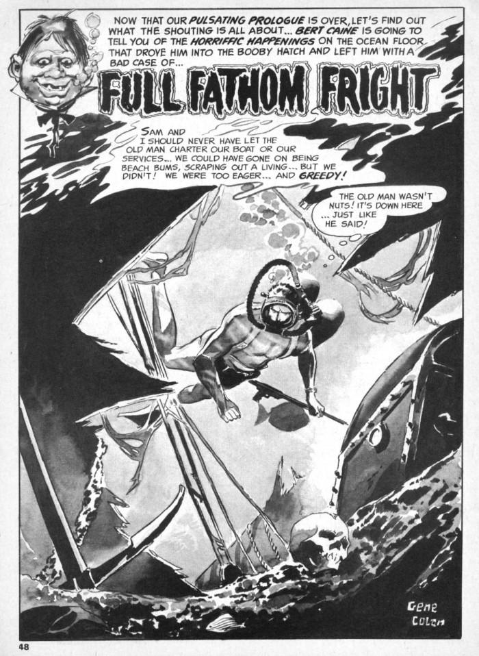 Eerie Magazine (1965) #3 pg.48 drawn by Gene Colan.