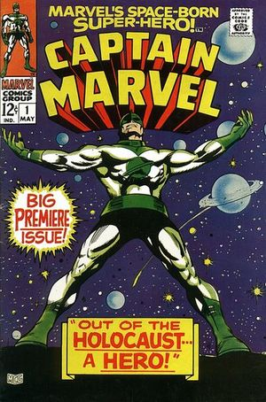 Captain Marvel (1968) #1, cover penciled by Gene Colan & inked by Vince Colletta