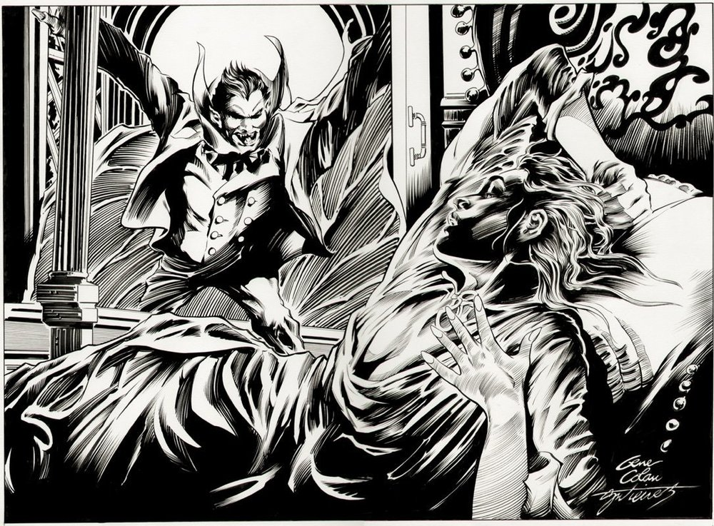 Dracula Commission penciled by Gene Colan & inked by Dave Gutierrez.