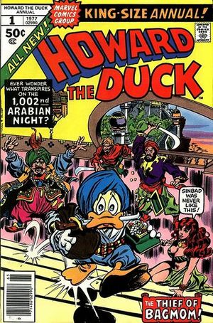 Howard the Duck Annual (1977) #1, cover by Gene Colan.
