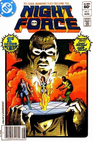 Night Force (1982) #1, cover penciled by Gene Colan & inked by Dick Giordano.