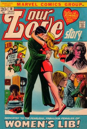 Our Love Story (1969) #18, cover penciled by Gene Colan & inked by John Romita.
