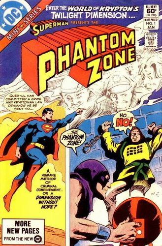 Phantom Zone (1982) #1, cover penciled by Gene Colan & inked by Dick Giordano.