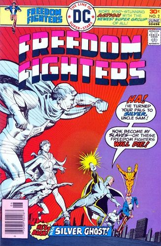 Freedom Fighters (1976) #2, written by Gerry Conway.