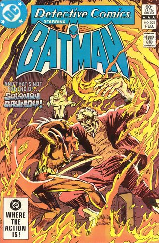 Detective Comics (1937) #523, written by Gerry Conway.