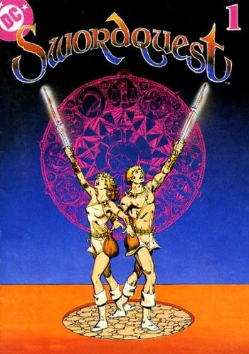 Swordquest (1982) #1, written by Gerry Conway & Roy Thomas