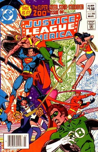 Justice League of America (1960) #200, written by Gerry Conway.