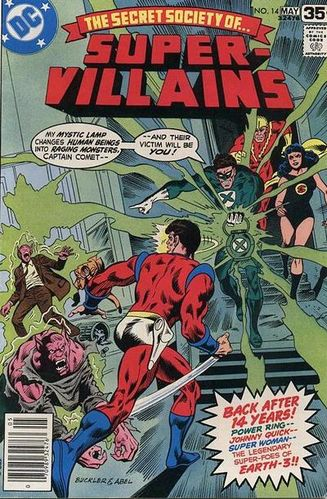 Secret Society of Super-Villains (1976) #14, written by Gerry Conway.
