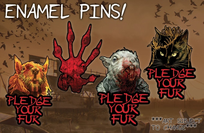 Pledge Your Fur  by wearing  Squarriors  enamel pins!