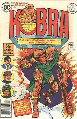 Kobra (1976) #5, cover penciled by Rich Buckler & inked by Frank McLaughlin.