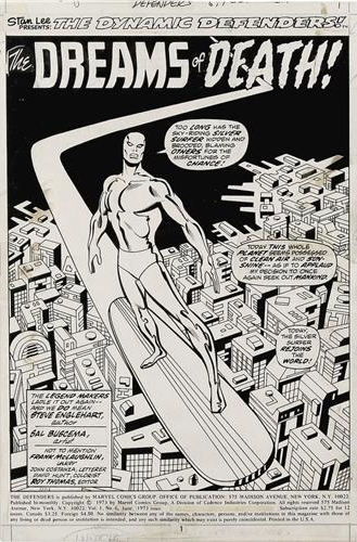 Defenders (1972) #6, interior page penciled by Sal Buscema & inked by Frank McLaughlin.
