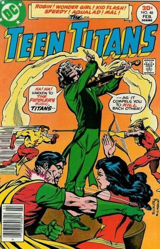 Teen Titans (1966) #46, cover penciled by Rich Buckler & inked by Frank McLaughlin.