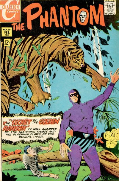 The Phantom (1969) #30, cover by Frank McLaughlin.