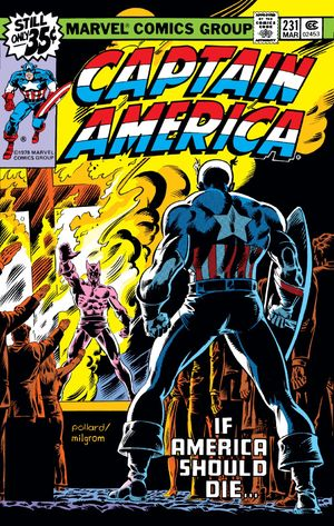 Captain America (1968) #231, cover penciled by Keith Pollard & inked by Al Milgrom.